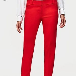 LOFT Julie skinny ankle red pant